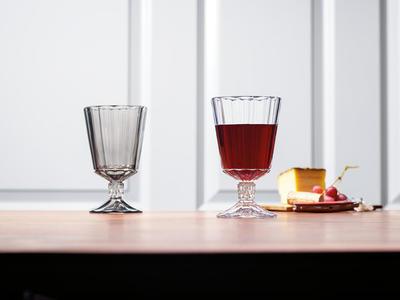Pohár na červené víno 0,28 l, 4 ks Opéra Smoke - 2