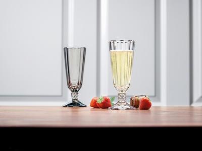 Pohár na šampanské 0,14 l, 4 ks Opéra Smoke - 2