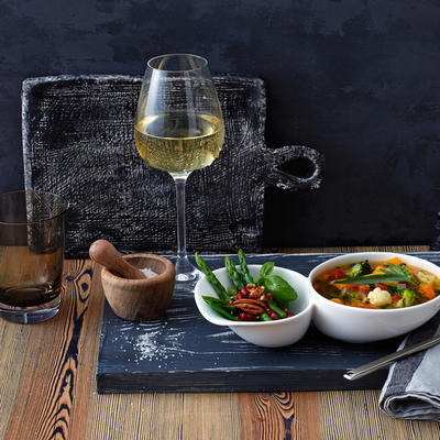 Pohár na biele víno 0,38 l, 4 ks La Divina - 2