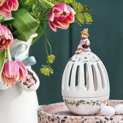 Svietnik, vajíčko, zajačica 16 cm Bunny Tales - 2