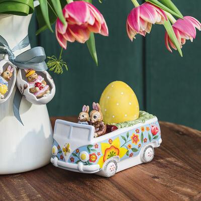 Dekorácia, veľkonočný autobus 14 cm Bunny Tales - 2