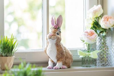 Sediaci zajac 19 cm Easter Bunnies - 2
