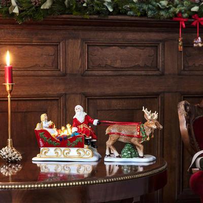 Svietnik, Santa na saniach 36 cm Christmas Toys - 2
