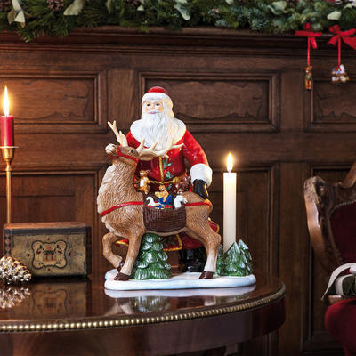 Svietnik, Santa so sobom 30 cm Christ. Toys Memory - 2