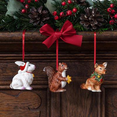 Závesné ozdoby, zvieratká, 3 ks Nostalg. Ornaments - 2