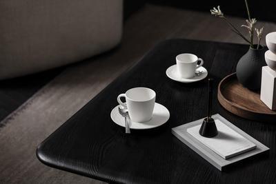 Espresso šálka 0,10 l s podšálkou Manu. Rock blanc - 2
