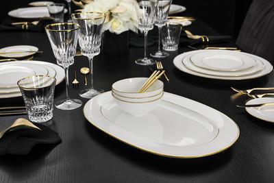Oválny tanier 41 cm Anmut Gold - 2