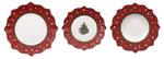 Vianočná obedová súprava,  čer.  18 ks Toy's Delight