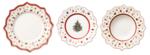 Vianočná obedová súprava,  BIEL 18 ks Toy's Delight